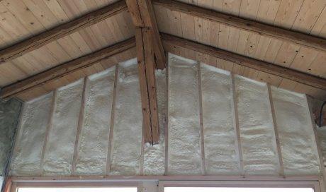 isolation par mousse projetée pour isolation murs