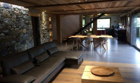 Parquet cube bois et plafond Megève