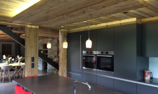 Plafond vieux bois Megève